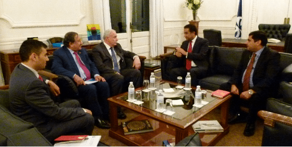 Palestinian Minister of Foreign Affairs Visit